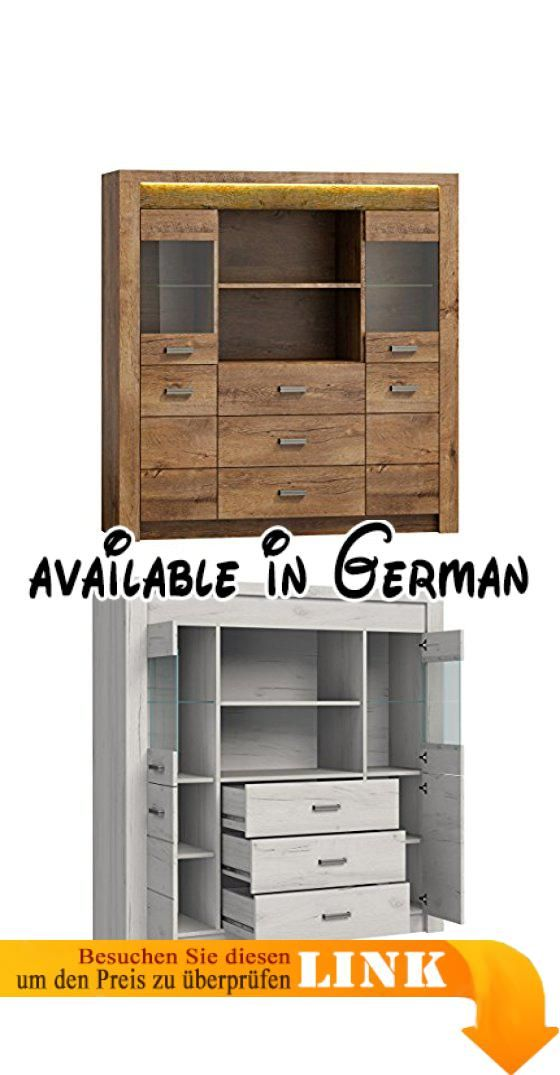 B077NGZDXY  Highboard Indiano I-22 Kommode mit 3 Schubladen