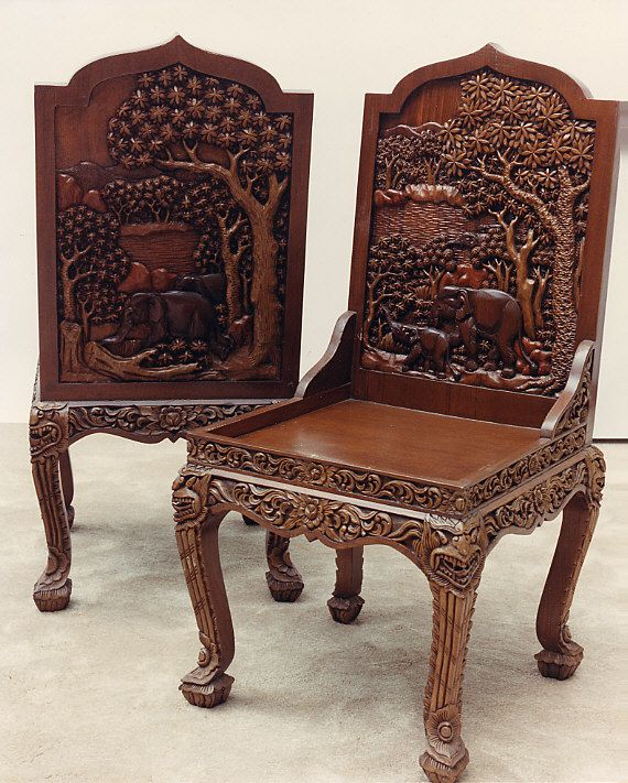 Hand Carved Vietnamese Chairs