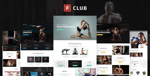 fightclub premium crossfit mma bodybuilding fitness yoga html