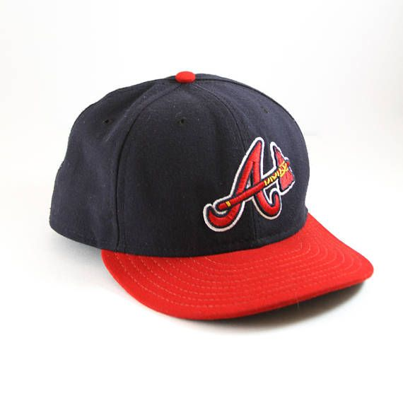 lucky brand tomahawk baseball cap braves fitted blue red new era hat