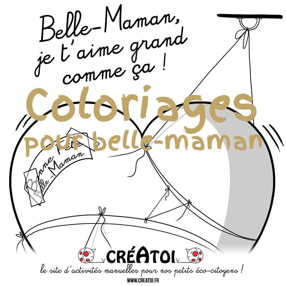 Des Coloriages Pour Belle Maman à Imprimer Et à Offrir