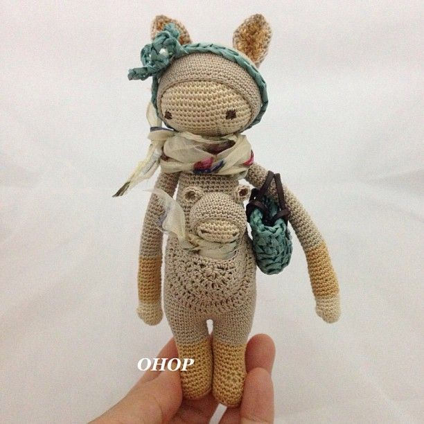 Crochet Mini Doll Pattern : mini-KIRA made by ohopshop / pattern by lalylala ...