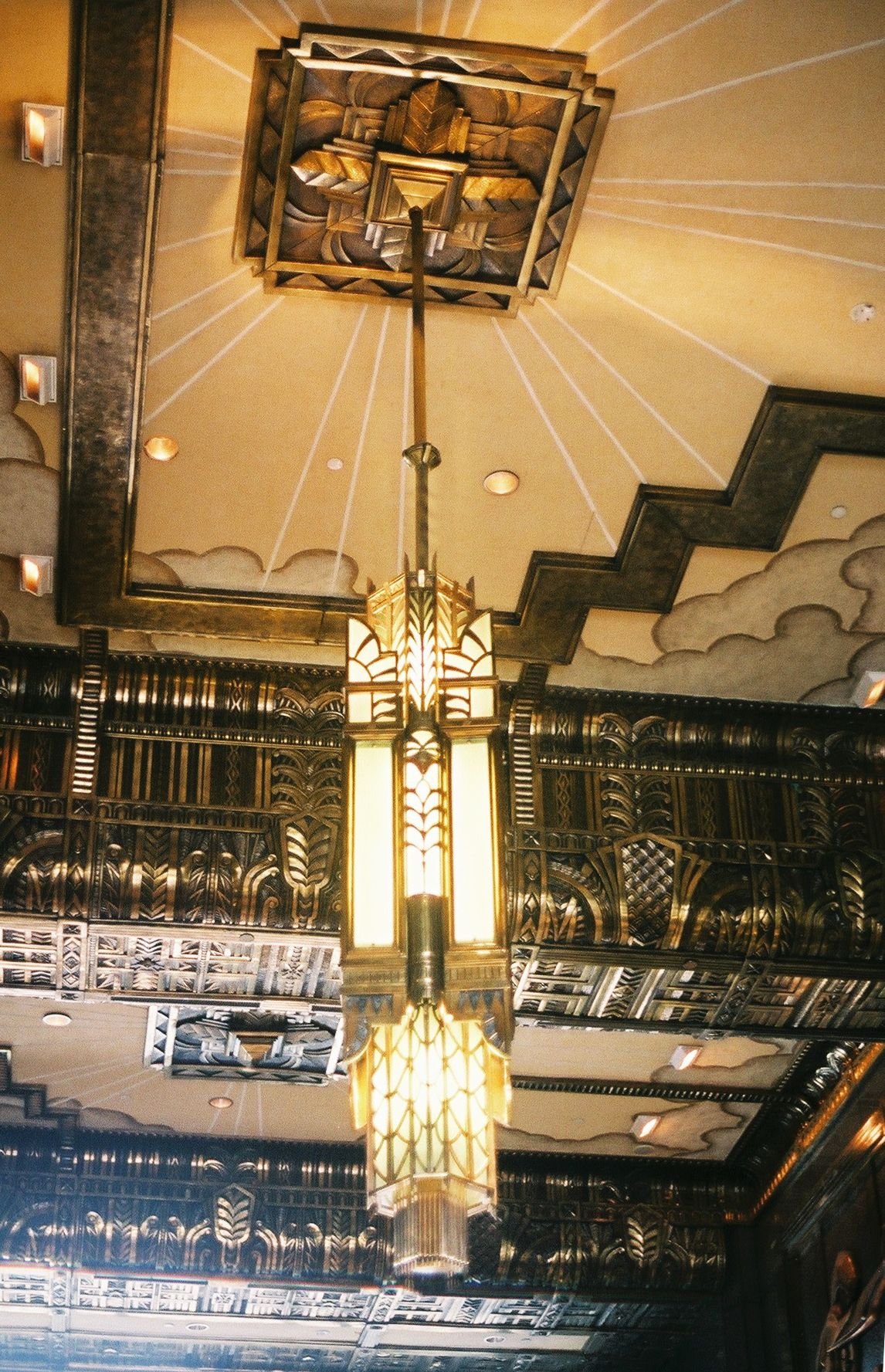 Art Deco ceiling pendant and detail … House front