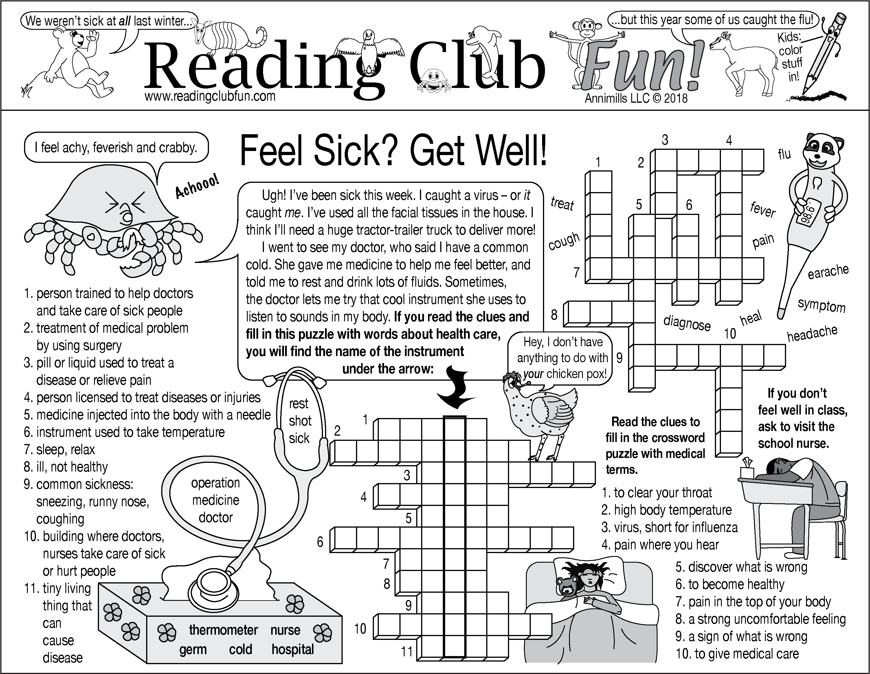 Feel Sick Get Well Puzzle Set Taking Care Of Illness