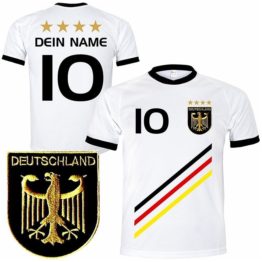 Deutschland Trikot Mit Gratis Wunschname Nummer Wappen Typ D