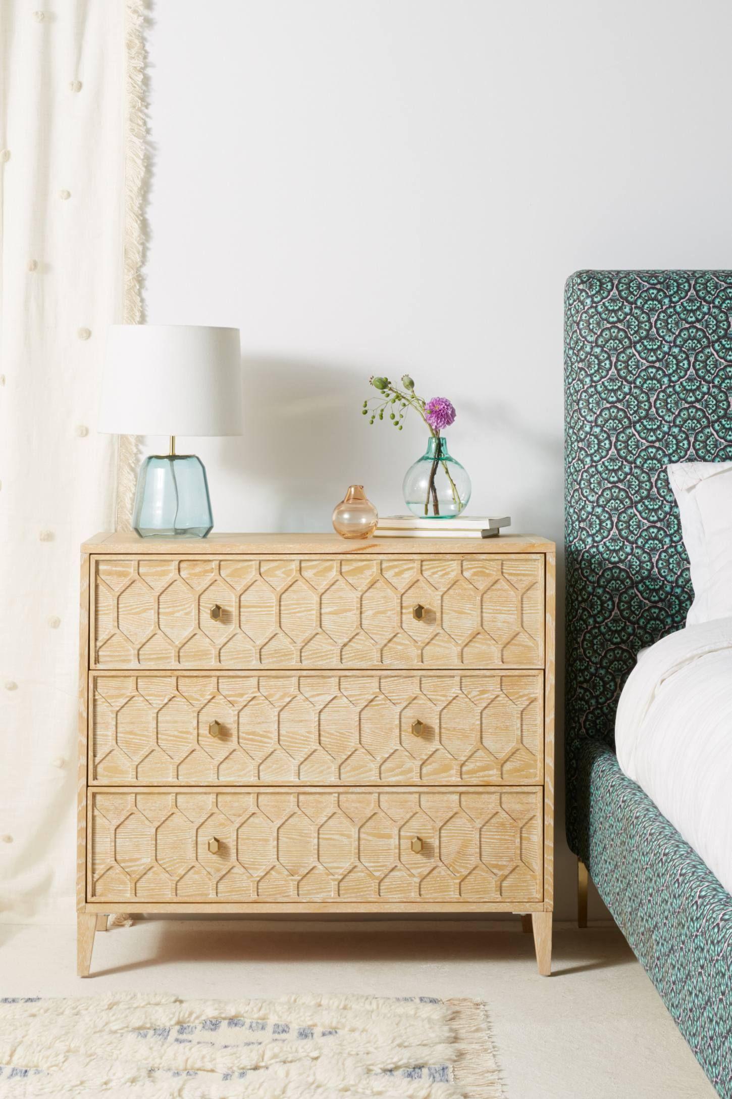 Textured Trellis ThreeDrawer Dresser Three drawer