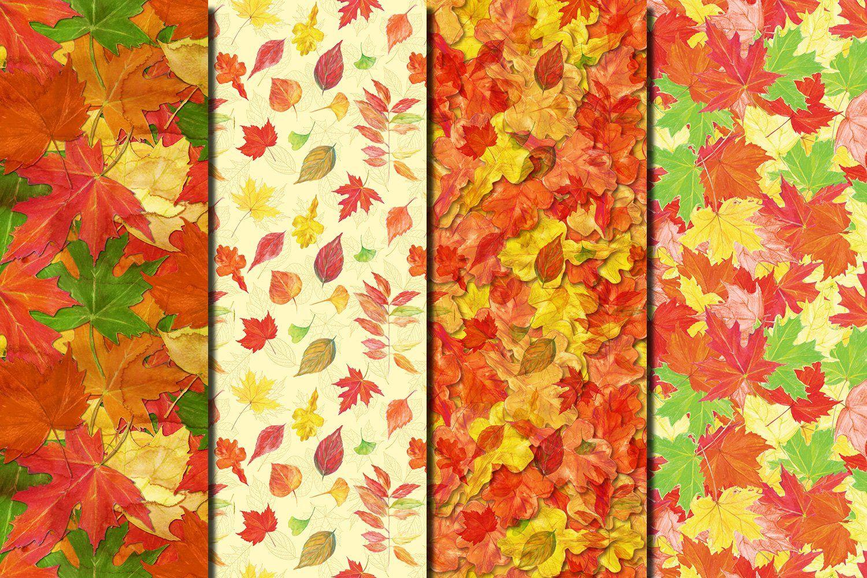 Watercolor Autumn Leaves Patterns Watercolor Autumn Leaves Autumn Leaves Leaf Pattern