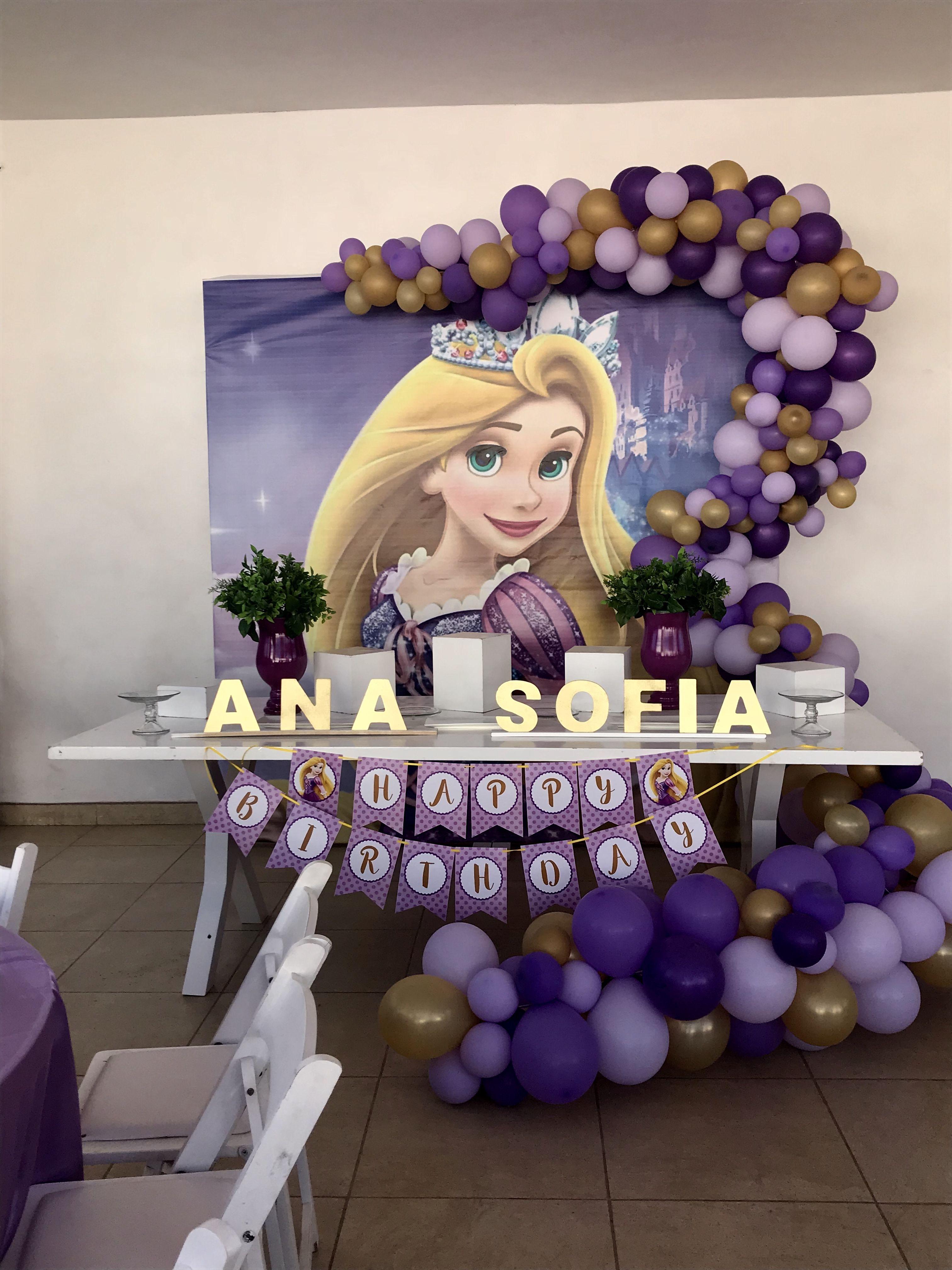 Rapunzel party kid 39 s bday in 2019 fiestas de rapunzel - Globos fiesta cumpleanos ...