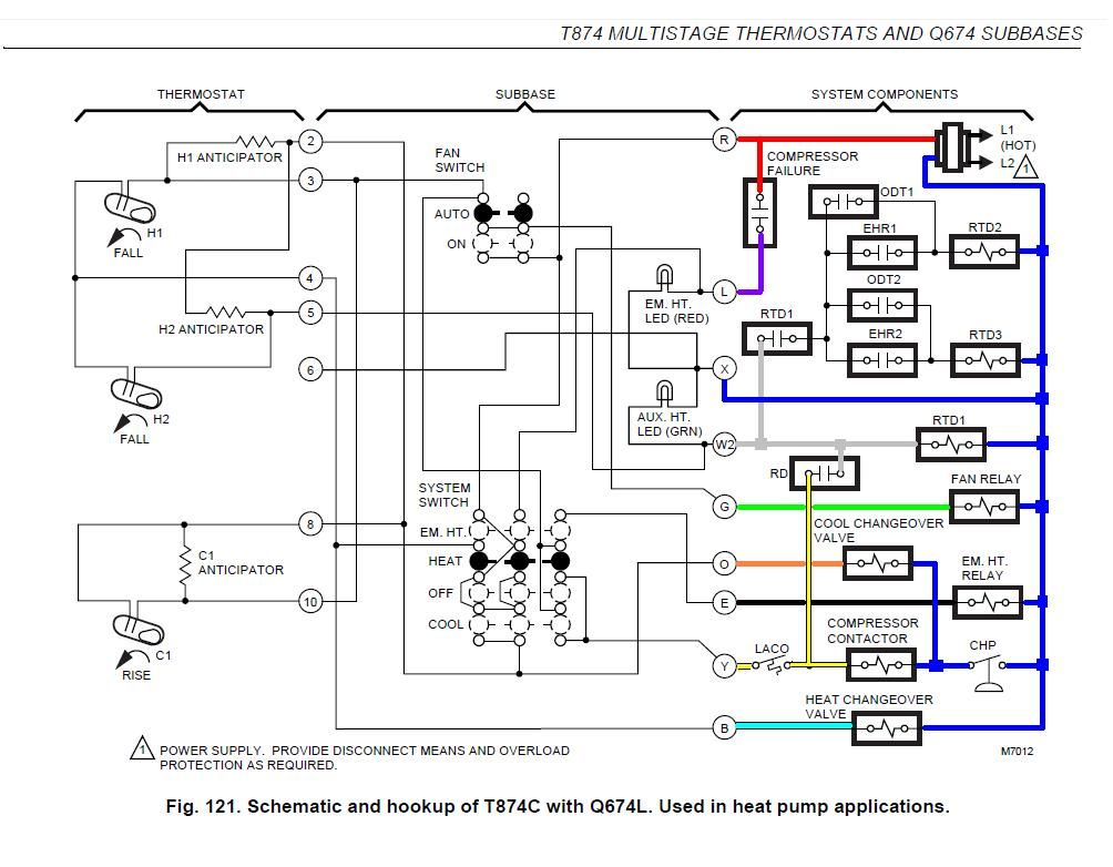 Heat Pump Thermostat Wiring Diagram Honeywell Di 2020 Dengan