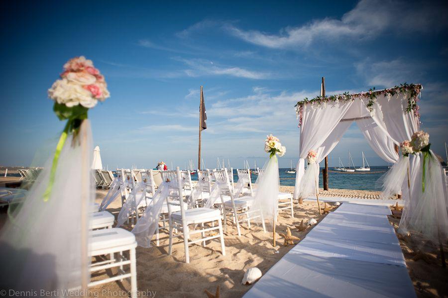 Amazing Wedding Set Up Decoration At The Beach Me Cabo