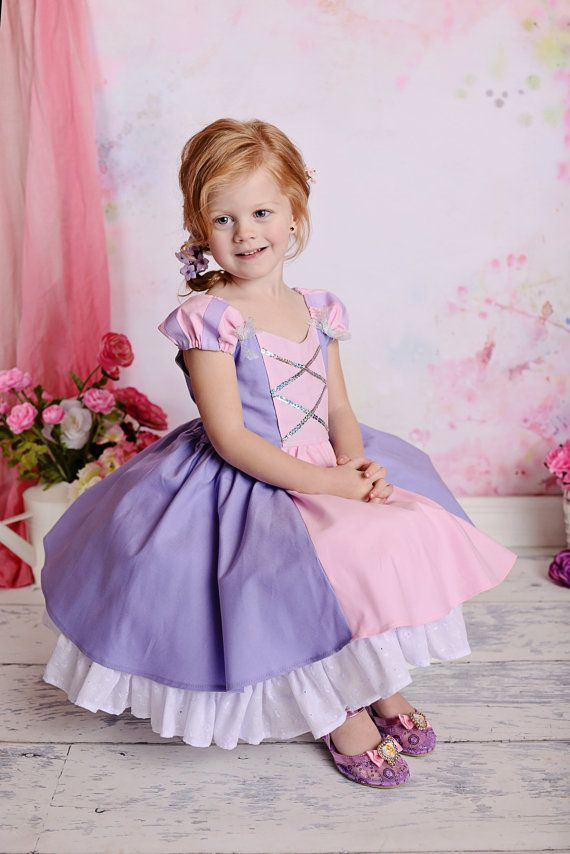 Gorgeous Rapunzel Tangled Costume Princess Dress with built-in ...