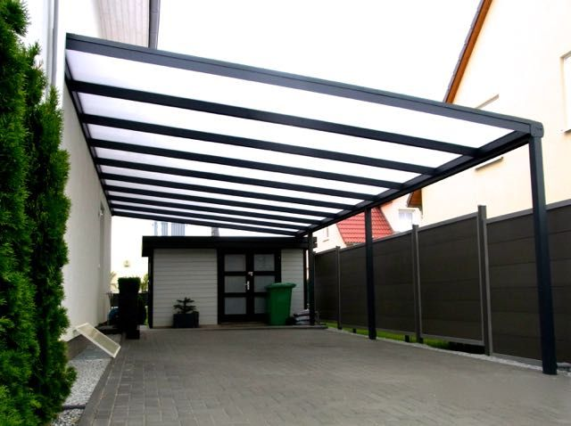 carport mit stegplatten und integrieter regenrinne carports pinterest. Black Bedroom Furniture Sets. Home Design Ideas