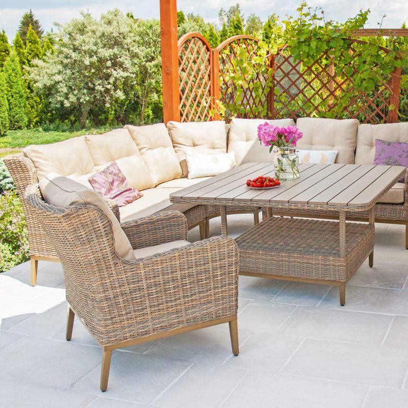 Castello Meble Ogrodowe Technorattanowe Zestaw Wypoczynkowo Jadalny Outdoor Furniture Outdoor Furniture Sets Furniture