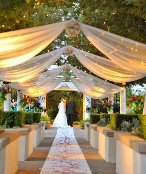 ideas para decorar la boda con tul. decorar con tul es una manera