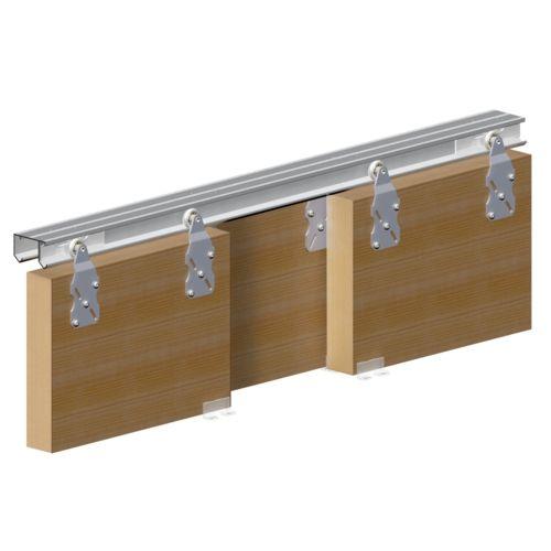 Système porte coulissante HORUS pour 3 portes de placard - rail 2 m