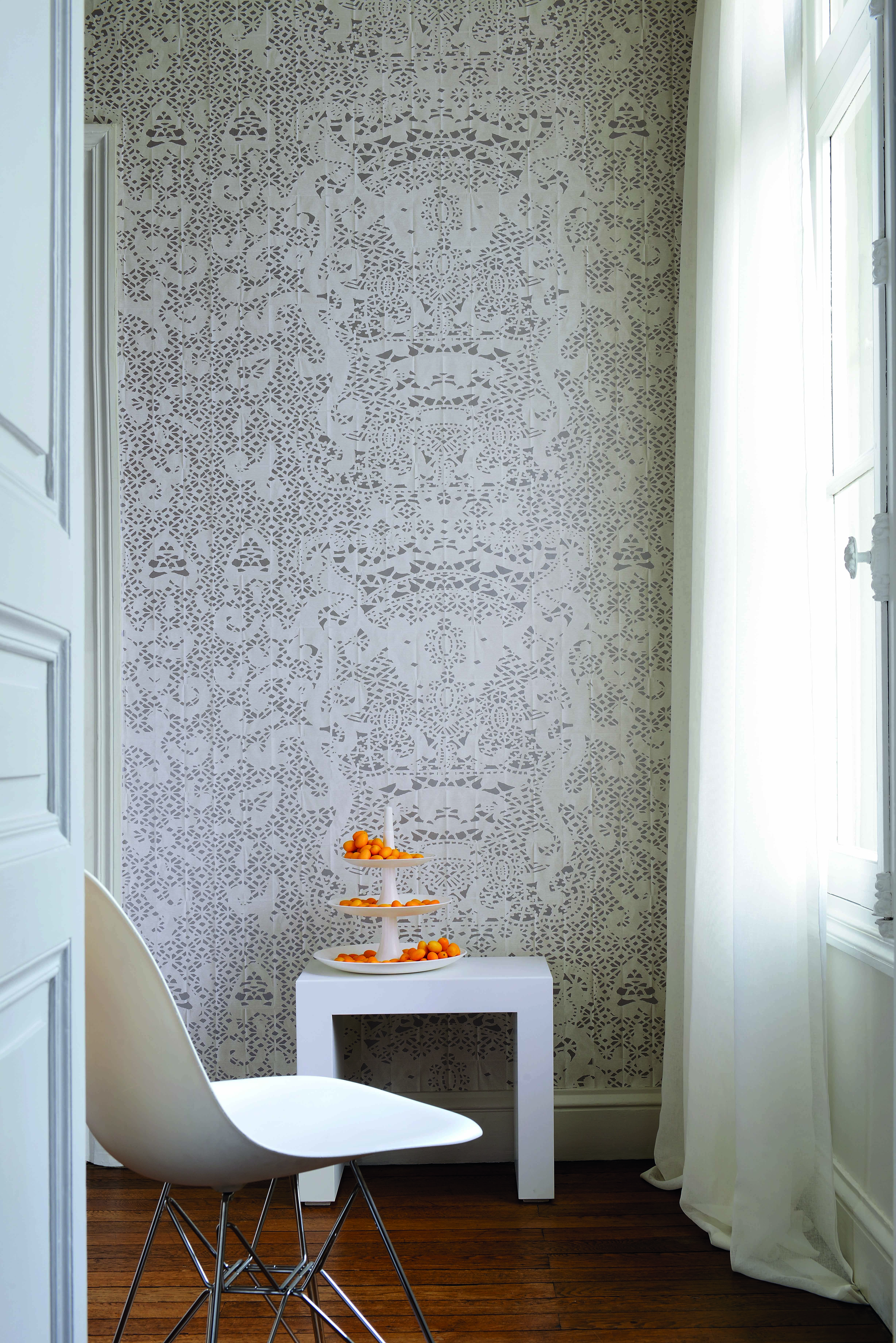 Online Room Designer Tool: Wallcovering From Elitis, Pleats Collection, Goodrich