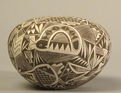 Excellent Acoma Seed Jar c. 1990