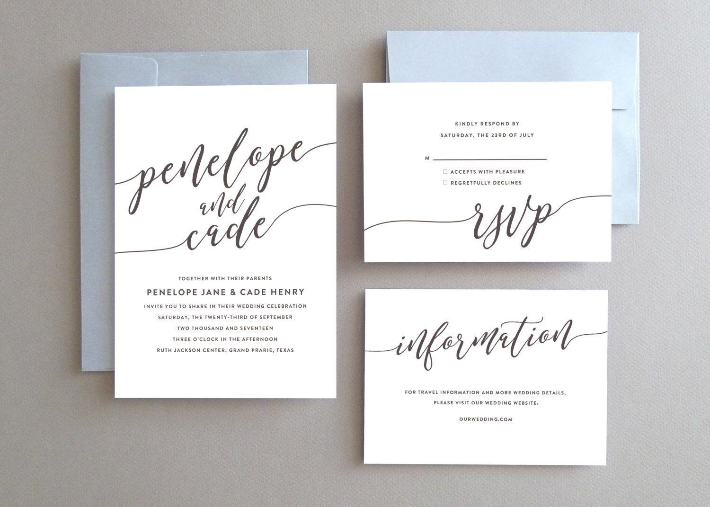 Unique Wedding Invitation Printable Wedding Invitation Etsy Fun Wedding Invitations Etsy Wedding Invitations Simple Wedding Invitations