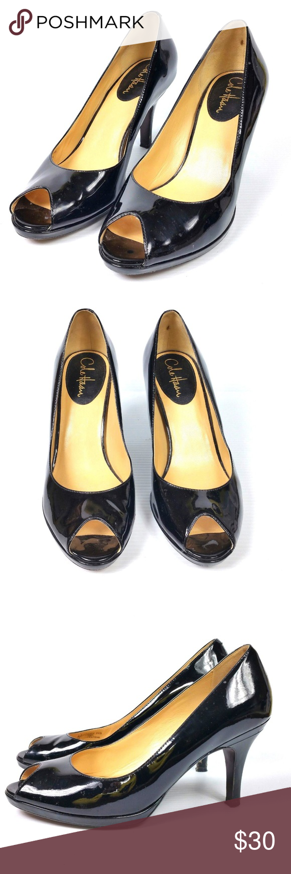 b41063f20c Cole Haan Air Carma Open Toe Pump 9.5 Black Heels Brand: Cole Haan / Nike