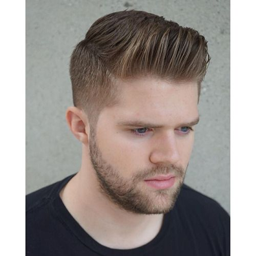 2 Fade With A Light Trim And Textured Pomp On Top Styled With Gentleman Haircut Dapper Haircut Gents Hair Style