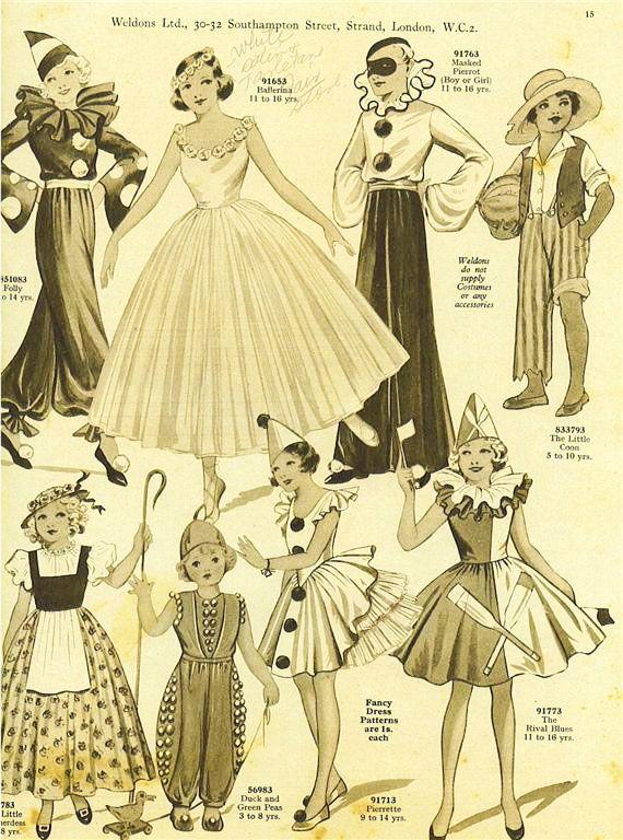 Vintage Patterns. Vintage Patterns Halloween Costume ...