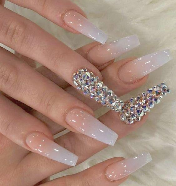 36 hermosas ideas de uñas acrílicas para ataúdes #acrílico #ideas # uñas # nailideasacrylic2019 #nailidea …