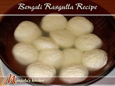 Great Bengali Rasgulla Recipe by Manjula, Indian Vegetarian Cuisin, ,