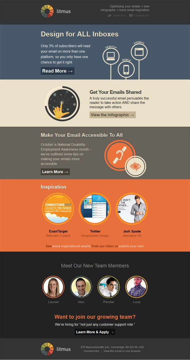 Awesome Email Newsletter Designs  Email Newsletter Design