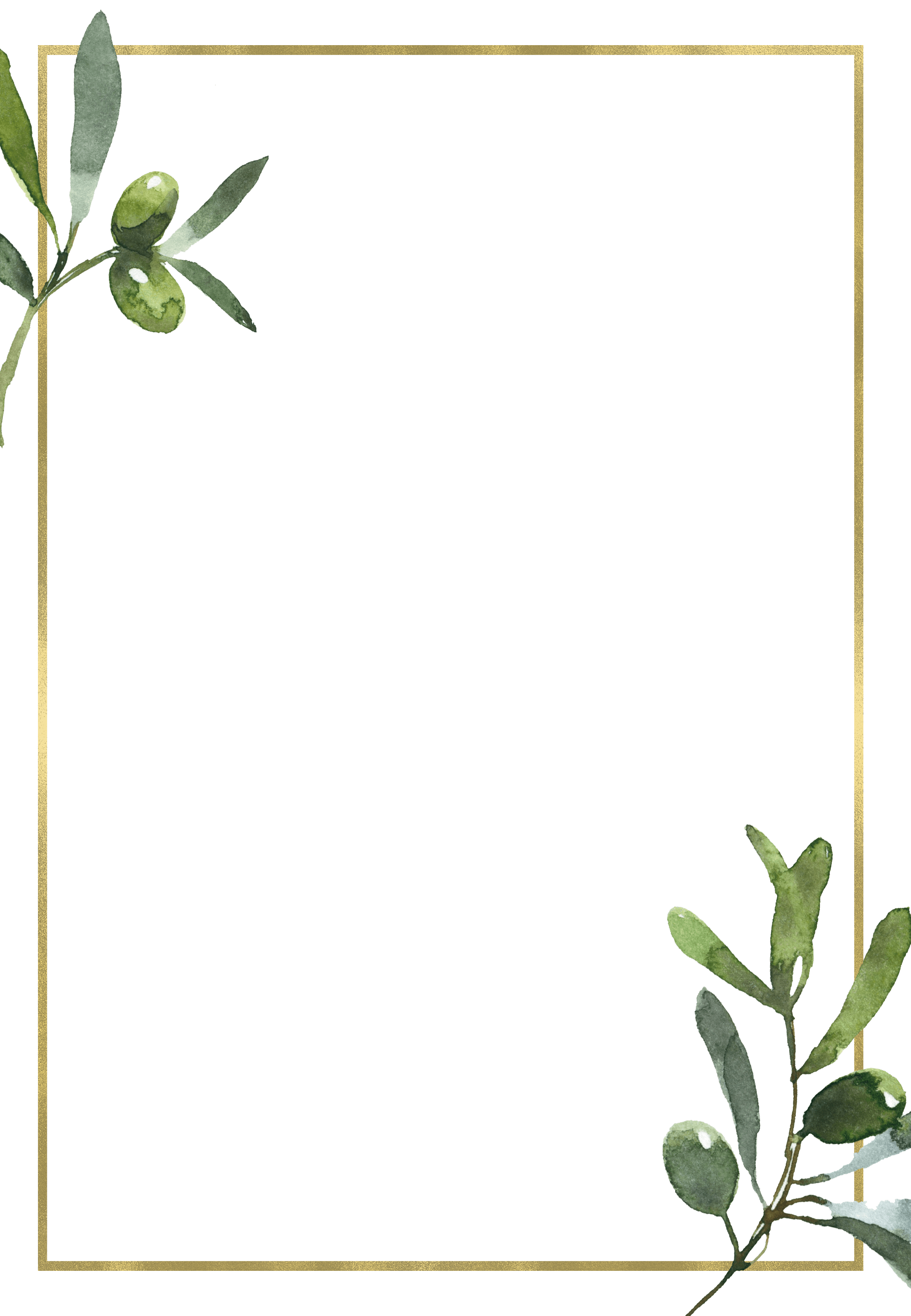 Golden Frame Olive Leaves Wedding Invitation Template Free Greetings Island In 2021 Wedding Invitations Leaves Wedding Leaves Olive Leaf