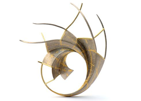 "Will Evans - ""...making jewellery incorporating fine gold inlay. The nature of the inlay techniques gives much of my work a linear feel, particularly suited to exploring the mathematical and visual interplay between line and three-dimensional form.""    Website: www.willevansjeweller.com"