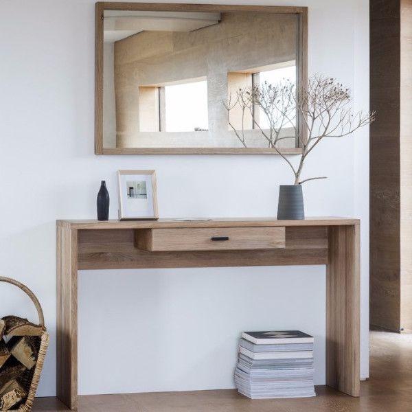 Hudson Living Kielder Oak Console Table & Mirror | Blog News ...