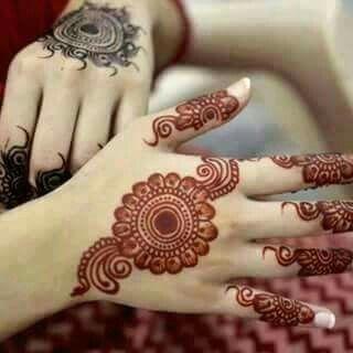 round arabic mehndi design