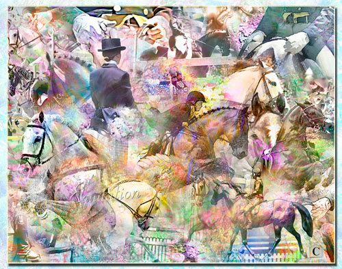 Equitation an Artistic Collage by Artisticcollage on Etsy, $95.00