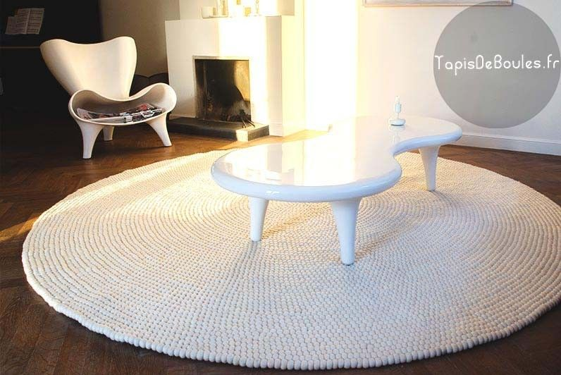 tapis rond very white rond tapis de