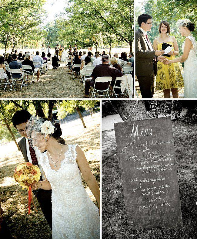 Real Wedding: Katie + Paul's Backyard Wedding In Northern