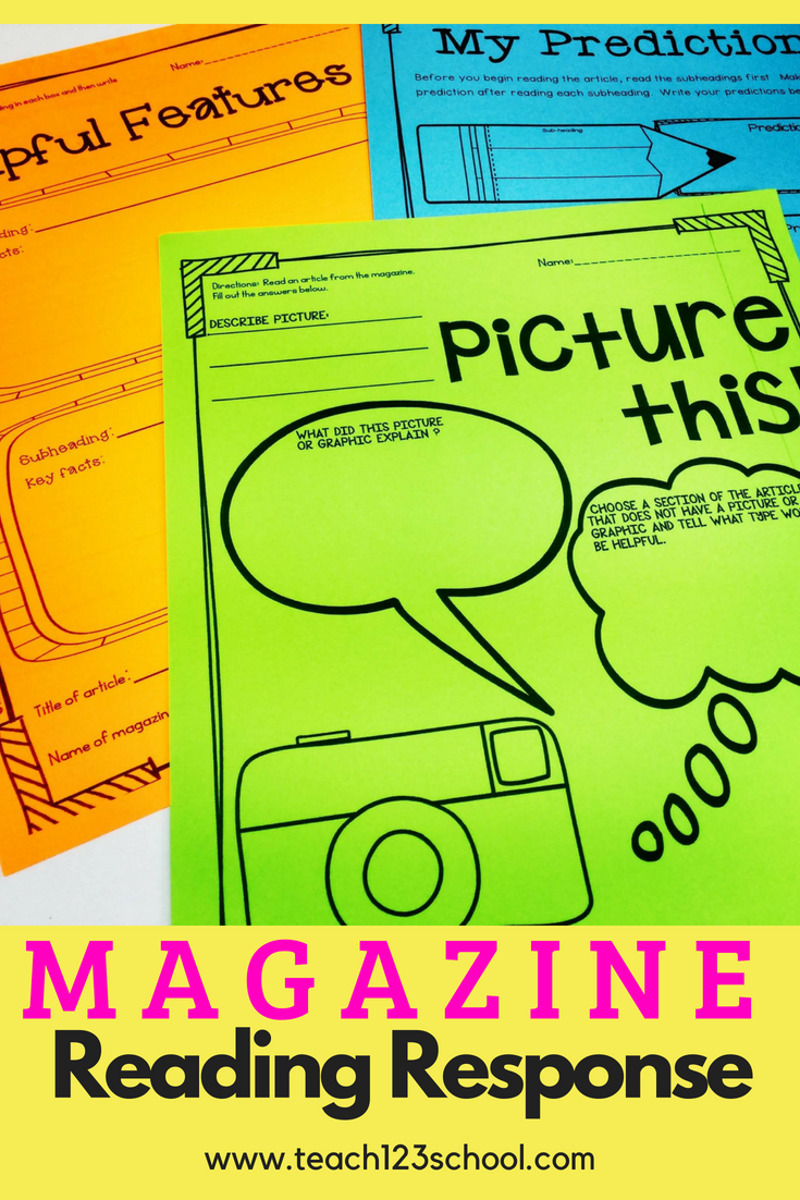 Text Features Reading Response Listening Center Magazines Non