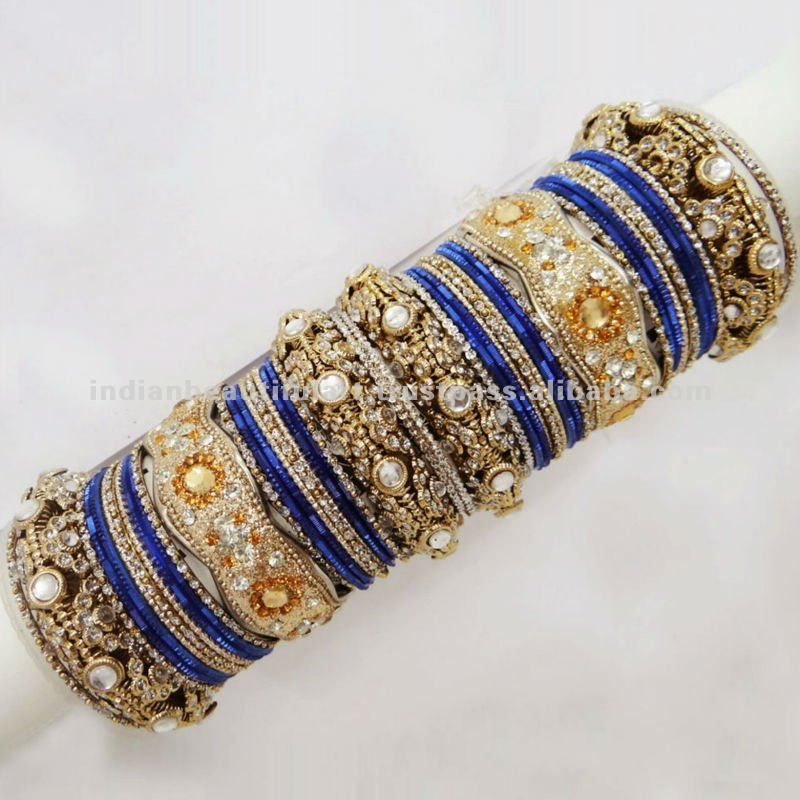 Indian Bollywood Multi color 15 bangles set women Gorgeous Traditional Bridal wedding Bangles FoN4Y