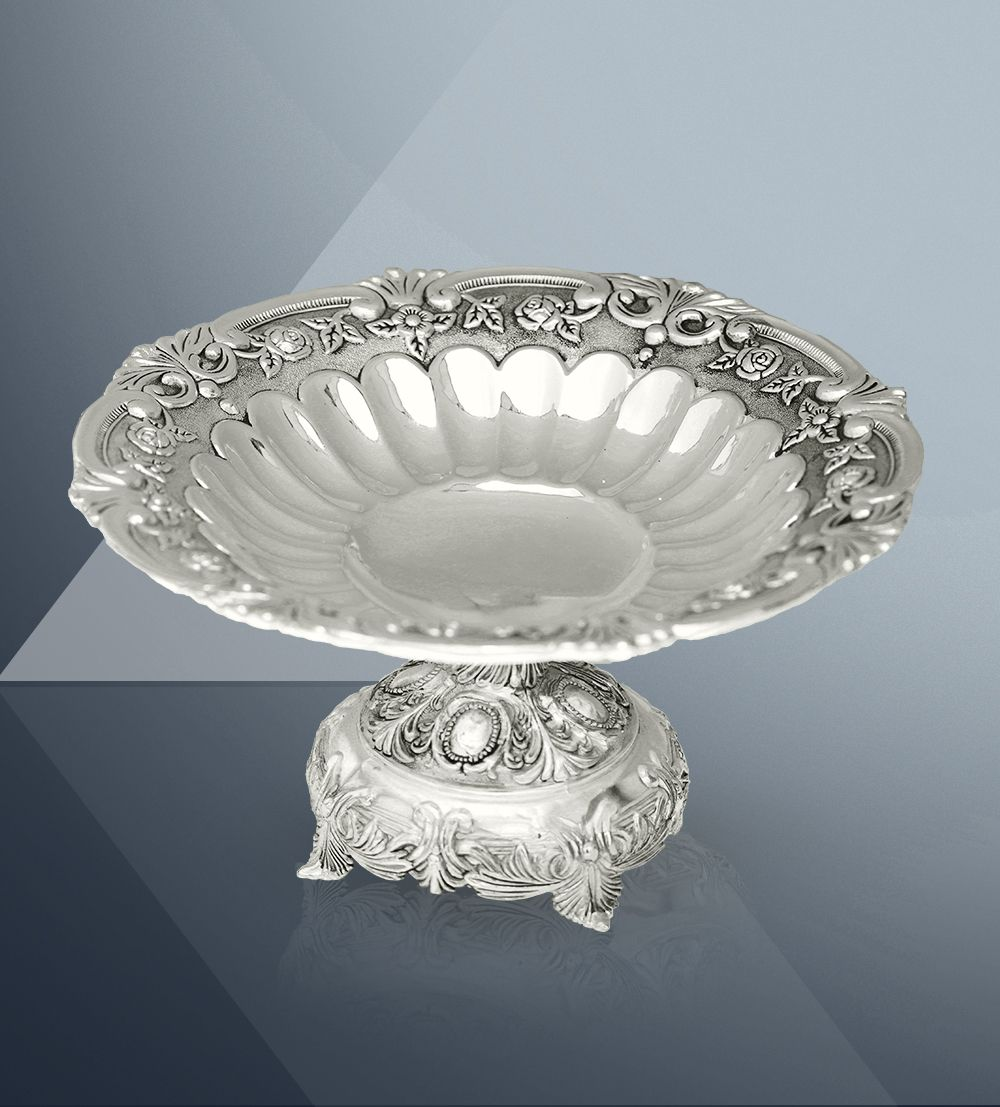 Platter Round With Round Base,Beautiful Serving Bowls,Big Fruit Bowl
