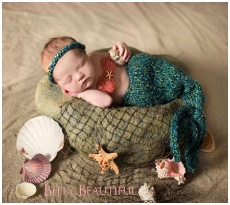 25 absolutely adorable diy halloween costumes for newborns disney baby - Baby Mermaid Halloween Costume