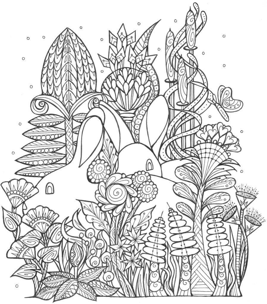 Spring Bunny Coloring Page Spring coloring pages, Bunny