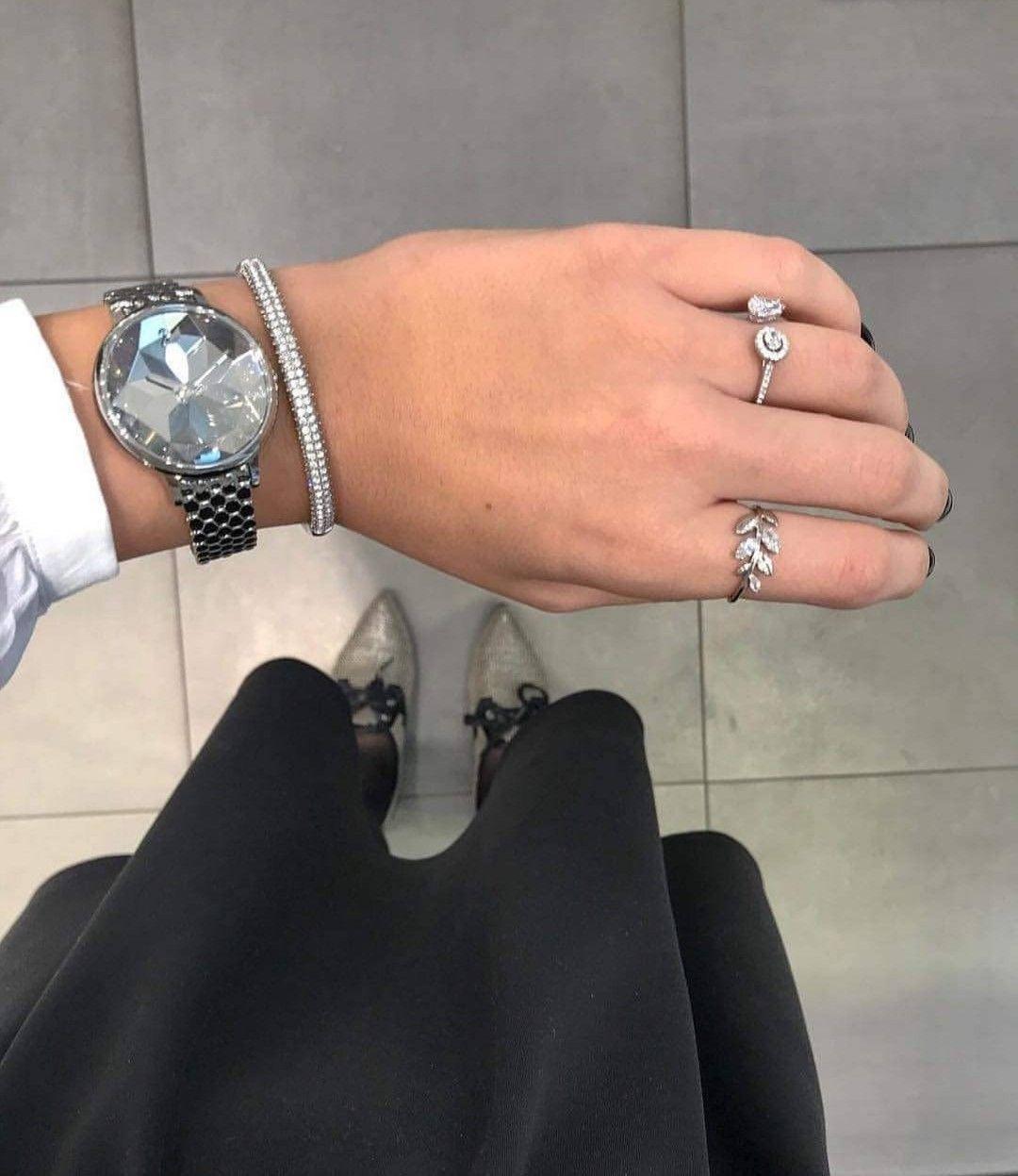 Crystal Lake Watch, Metal bracelet, White, Stainless steel by ...