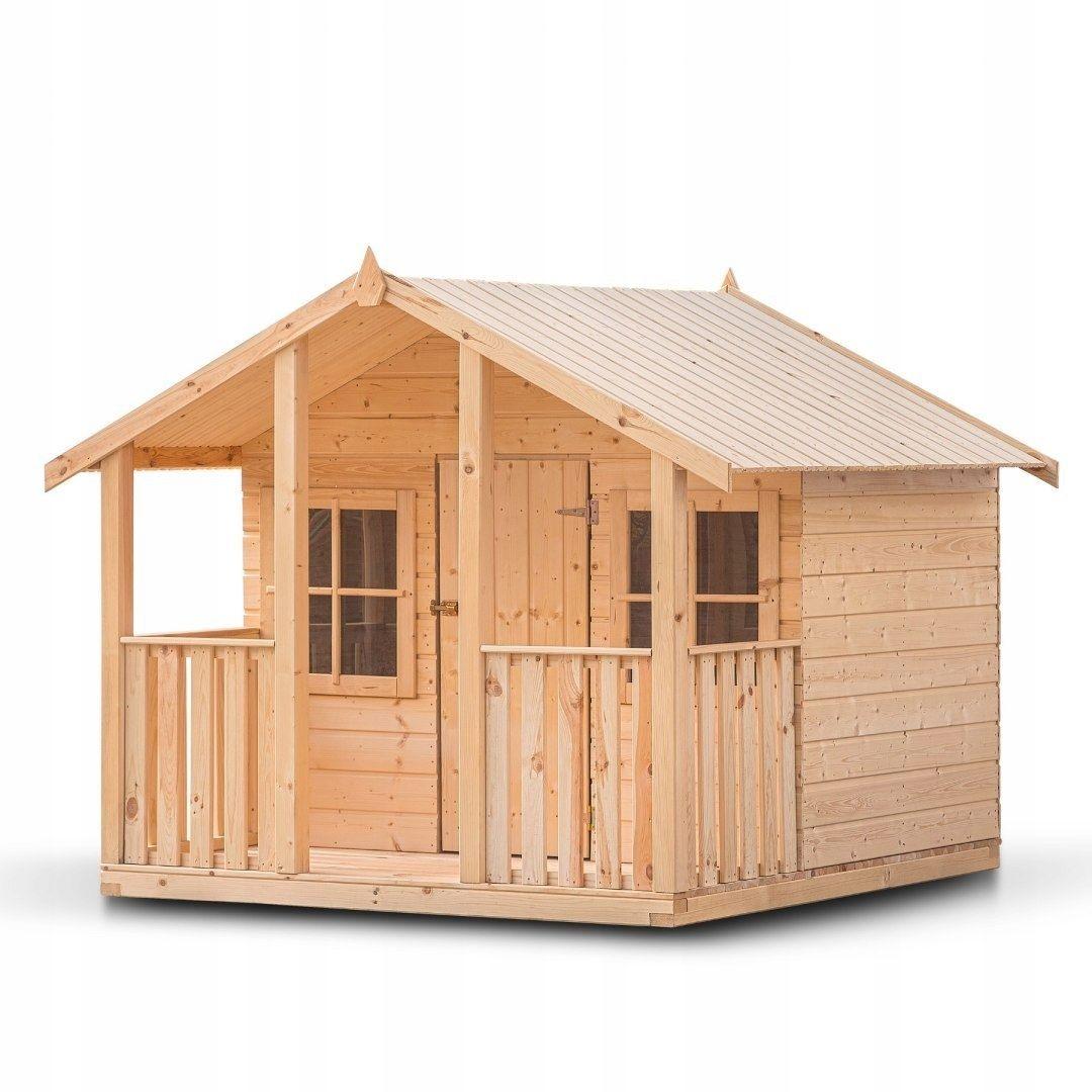 Domek Zabaw Dla Dzieci Oliwia Drewno Suszone 14mm Outdoor Structures Outdoor Shed