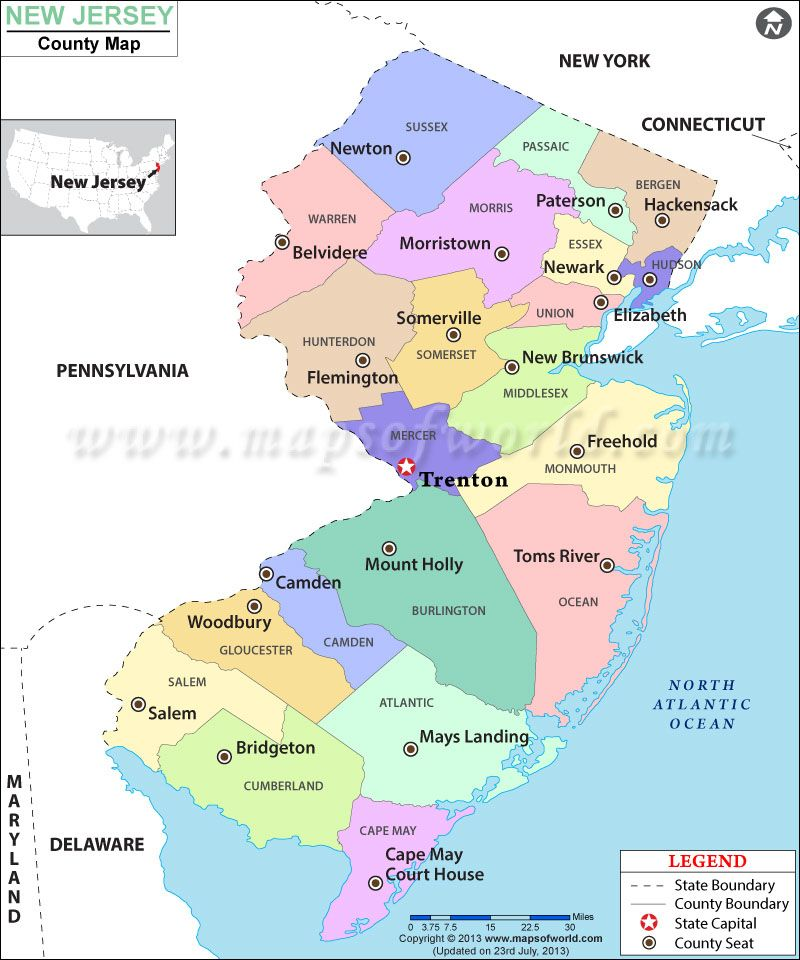 Image Result For Map Of NJ Beach Pinterest - Mapa de new jersey