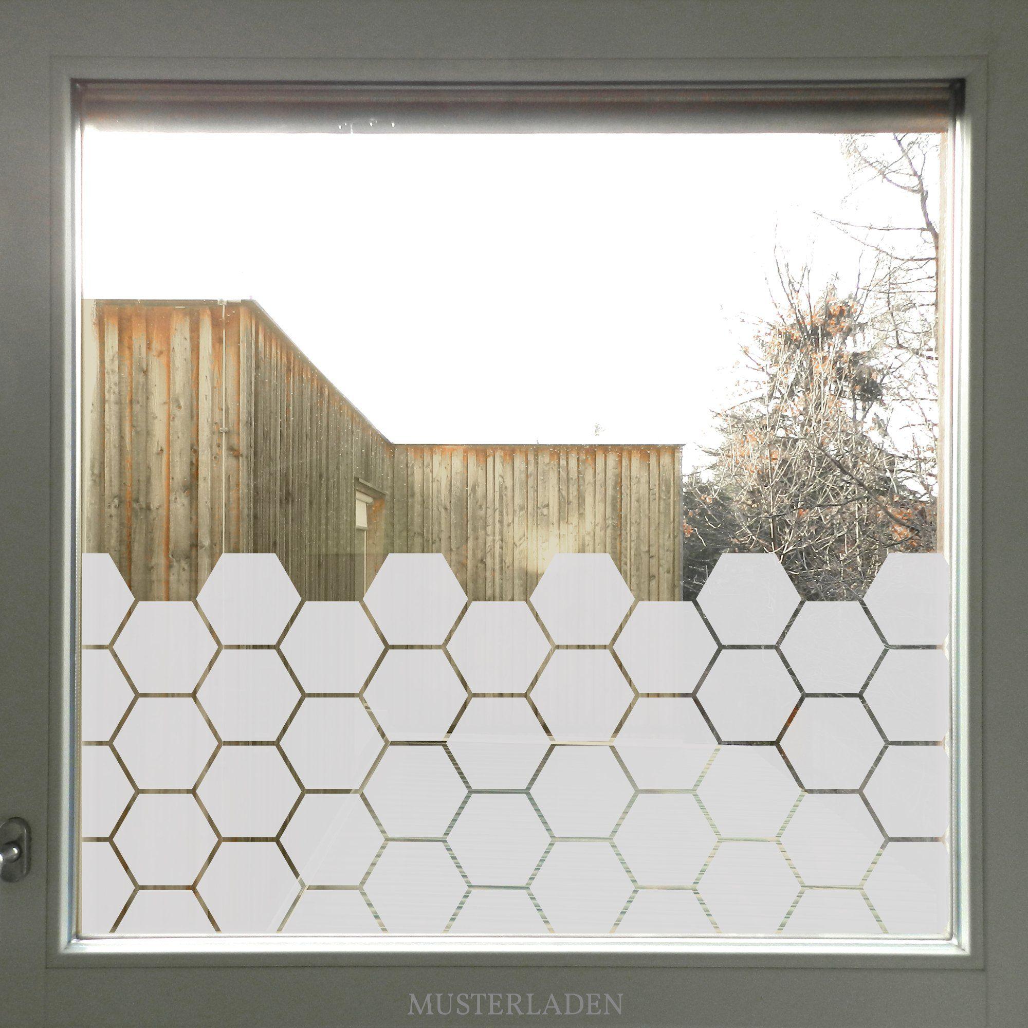 Glasdekorfolie Sechseck Fensterfolie Bienenwabe Fensterfolie Fenster Privatsphare Fenster Dekor