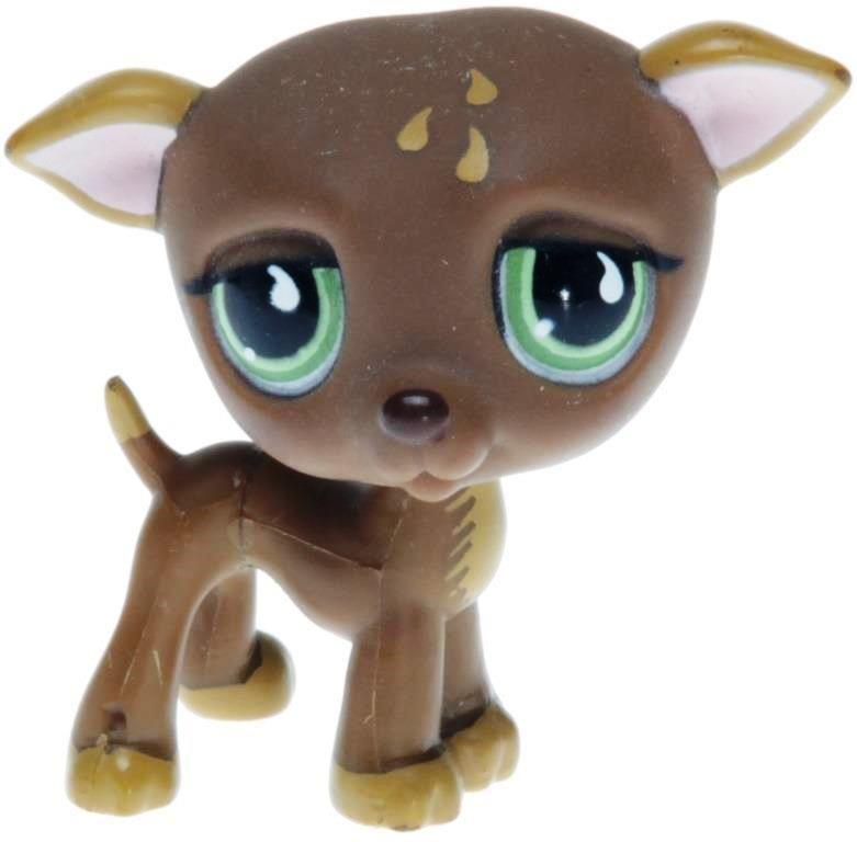 5pcs//Lot Littlest Pet Shop  LPS#244 817 577 750 1439 Great Dane dog Toy gift