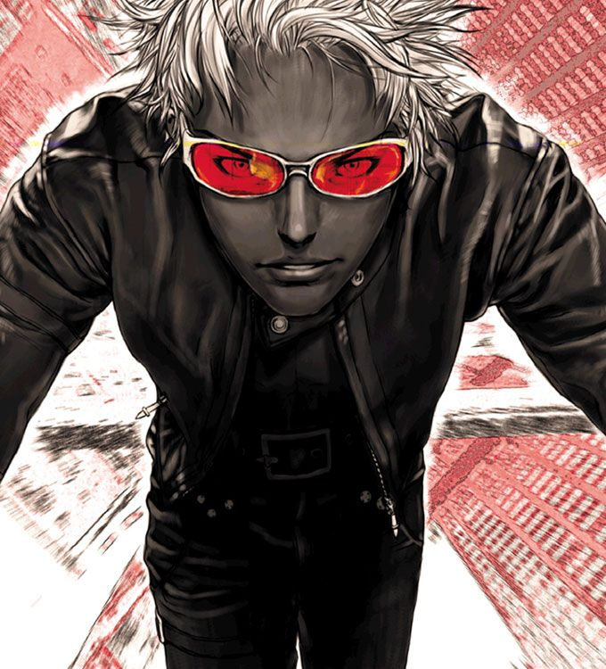 K Red Shades Characters Art King Of Fighters 2000 King