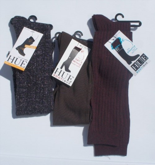12.09$  Buy here - http://vilkx.justgood.pw/vig/item.php?t=0yclngh35872 - HUE Bootique Boot Socks One Size Assorted Lot 3 Pairs Knee & Over the Knee