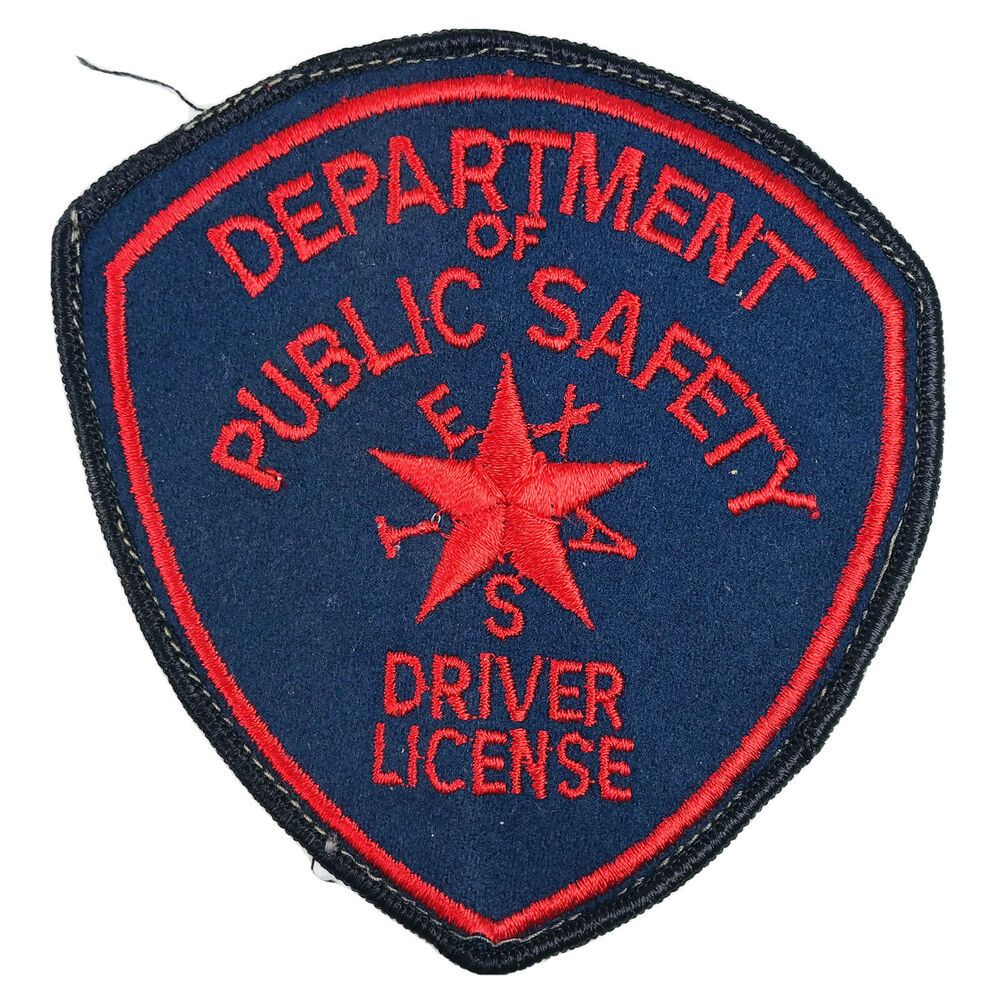 Texas Department of Public Safety Driver License Felt