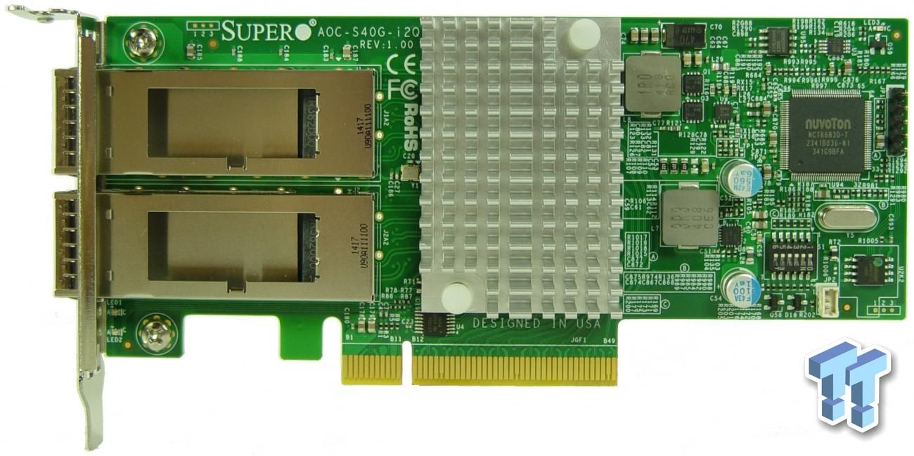 Supermicro AOC-S40G-iQ2 Review: A Low-Power 40GbE NIC Supermicro taps Intel's new XL710 network controller to deliver high speed converged network technology with lower power than existing solutions. (NASDAQ:SMCI, NASDAQ:INTC)