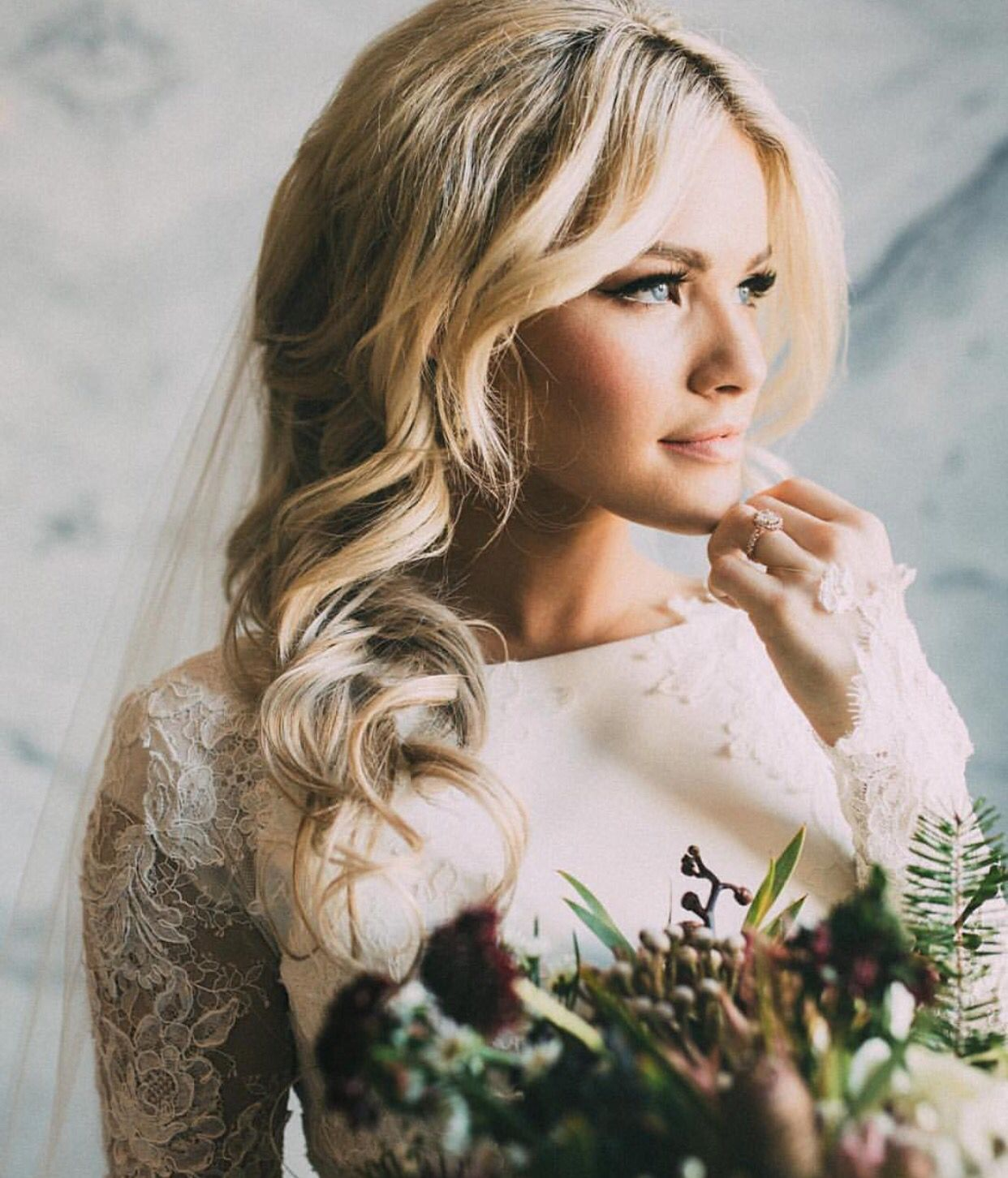 this bridal look is great for a bride who wants to stay away from